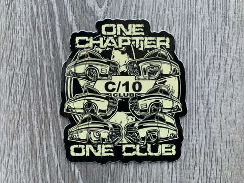C10 Club One Chapter Sticker
