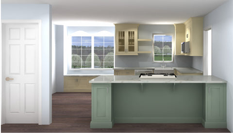 KITCHEN WITH PENINSULA OPTION - STILL ENDED UP BEING TOO SMALL