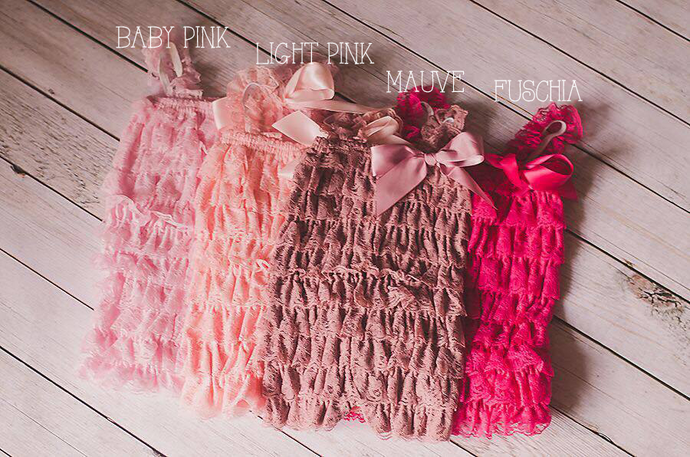 Pink, Baby Pink, Fuchsia, Bubble Gum Ruffle Romper