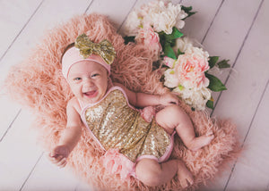 Pink & Gold Sequined Romper