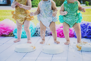Cake Smash Sequined Romper