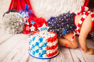 Patriotic Romper with tulle