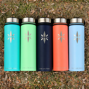 Right Here Right Now 22oz Mindful Water Bottle - Who Doesn't Need A Reminder To Be Present On Their Favorite Water Bottle?