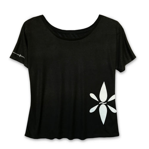 Right Here Right Now Ladies Slouchy RHRN Hip T-Shirt - Wear Your Reminder To Be Present Everywhere