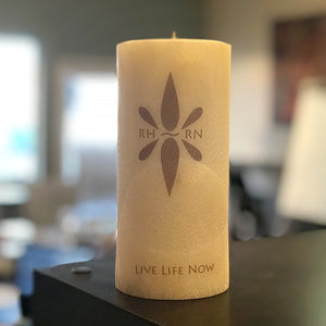 Right Here Right Now Medium Pillar Candle - Active Your Sense Of Smell To Be Present