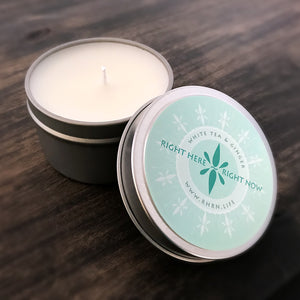 Right Here Right Now Mini Tin Candle - Activate Your Sense Of Smell To Be Present