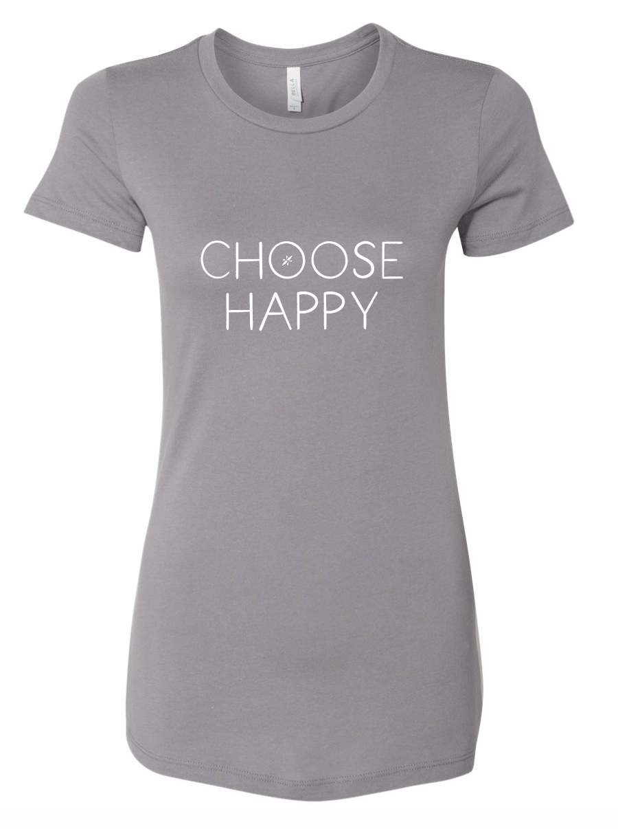 Choose Happy - Fitted Tee