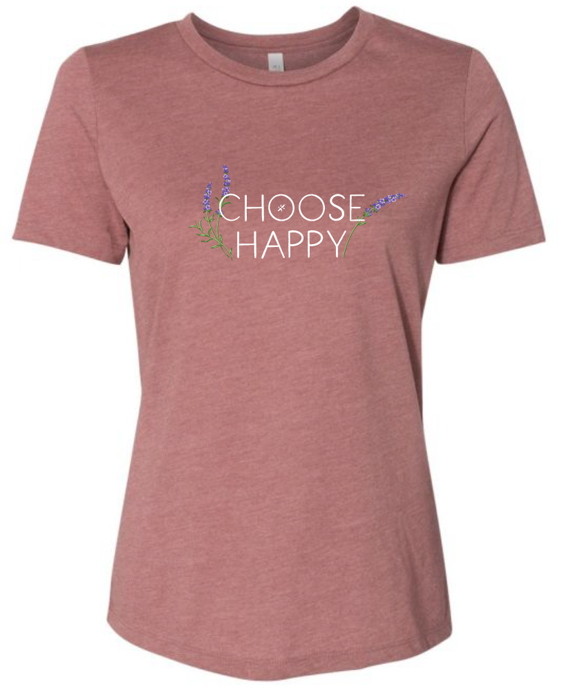 Choose Happy Lavender - Relaxed Tee