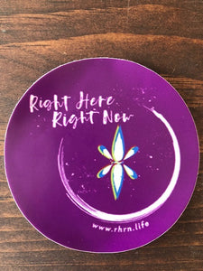 Right Here Right Now Round Static Cling (4pcs) - A Perfect Reminder To Be Present You Can Put Almost Anywhere