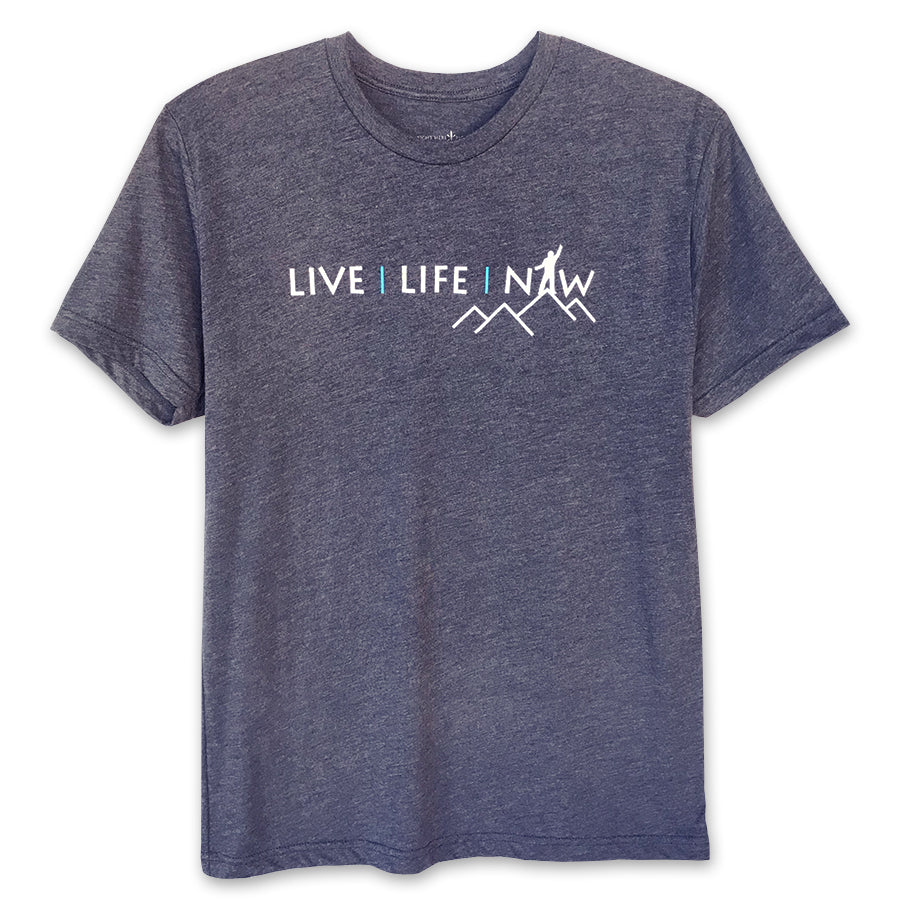 Right Here Right Now Men's Live Life Now T-Shirt - Wear Your Reminder To Be Present Everywhere