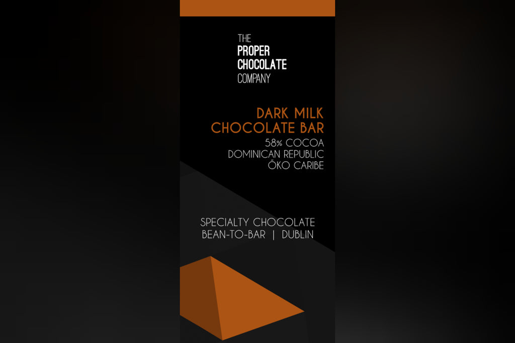 Dominican Republic Single origin - Öko Caribe  58% Dark Milk Chocolate
