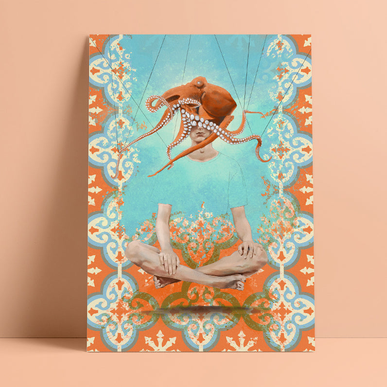 'Feel Free' by Yassine Mourit. Limited edition fine art print in interior