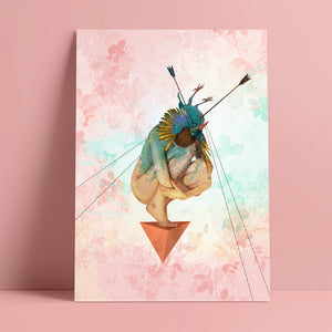 'Mother' by Yassine Mourit. Limited edition fine art print in interior