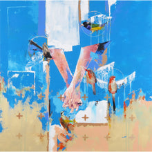 'You&Me' by Yassine Mourit. Contemporary, figurative canvas painting