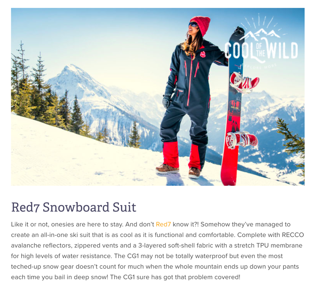 Snowboarder's top gear - One Piece Ski Suit