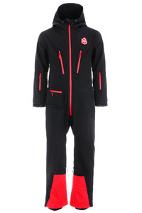 All in one ski suit - Black - Red7SkiWear