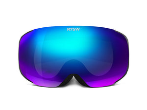 Red7 snow goggles with blue lens