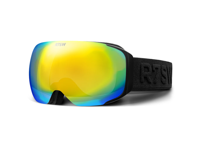 R7SW Recycled Plastic Ski Goggles - Orange magnetic lens