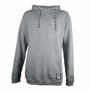 R7SW Grey Hoodie - Organic Cotton Hooded Sweater from Red7 Ski Wear