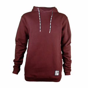 R7SW BURGUNDY HOODED SWEATSHIRT - RED7 SKIWEAR SUSTAINABLE CLOTHING