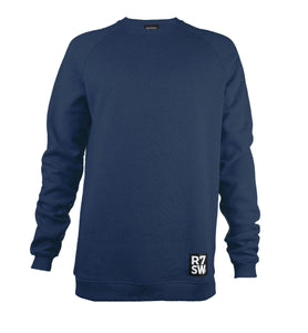 SOFT ORGANIC COTTON SWEATSHIRT - R7SW SUSTAINABLE SPORTSWEAR RANGE FROM RED7 SKI WEAR