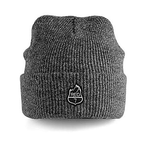 GREY WINTER BEANIE WITH EMBROIDERED RED7 LOGO
