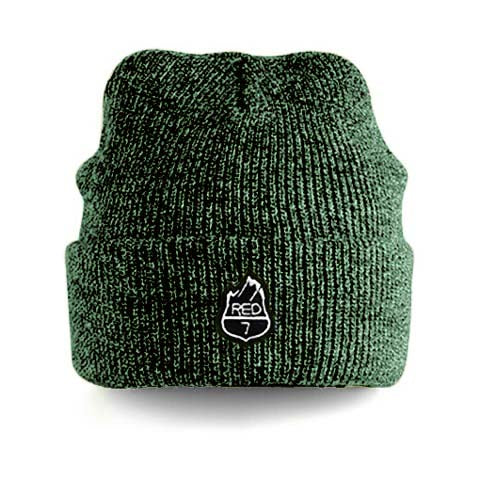RED7 HEATHER BEANIE - MOSS GREEN