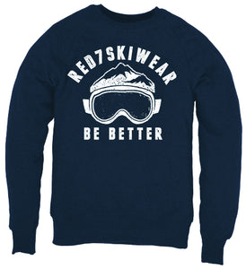 Navy Ski sweatshirt - Red7 Ski Wear Organic Cotton Sustainable Clothing