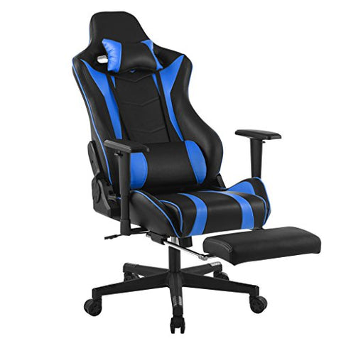 LANGRIA Executive Racing Style Gaming Chair (Blue/Black)