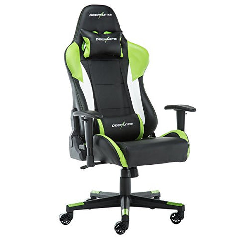 Deerhunter Gaming Ergonomic and Adjustable Lumbar Support Gaming Chair (Green&Black)