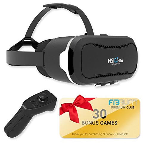 NSInew Bundle with Over 30 VR Apps & Bluetooth Remote Included