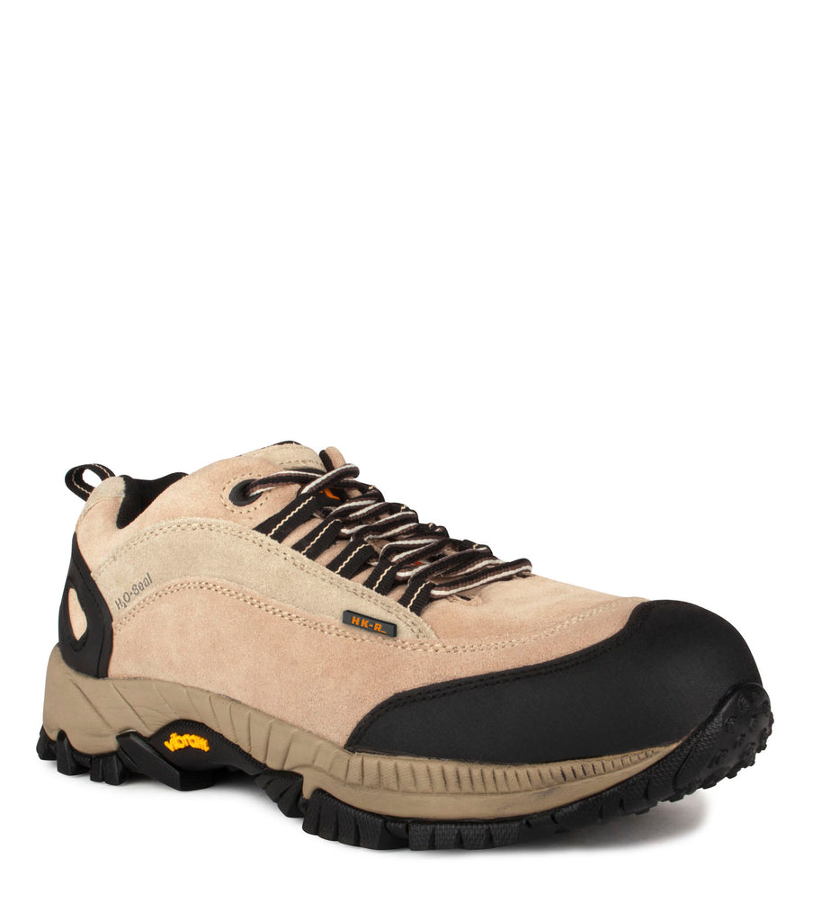 Bruce, Beige | Waterproof suede work shoes | Vibram outsole