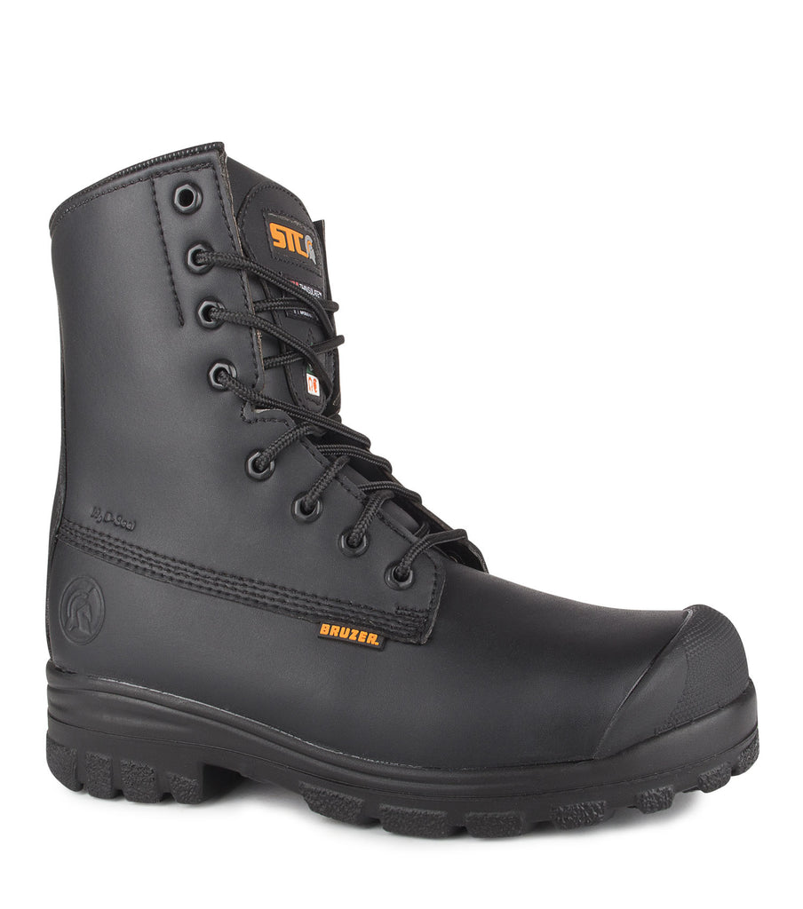 "Keep, Black | Vegan 8"" Waterproof Safety Work Boots 