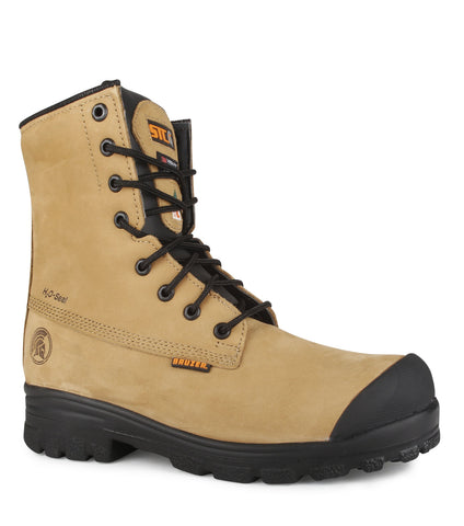 "Master, Tan | Waterproof Nubuck Leather 8"" Safety Work Boots"