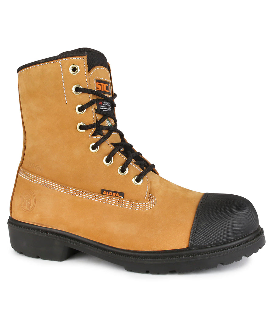 "Hardcore, Tan | Waterproof Nubuck leather 8"" Work Boots 