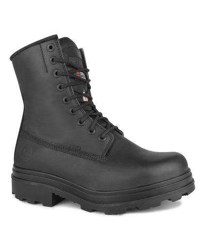 "Stacker, Black | Chemtech 8"" Vegan Safety Work Boots 