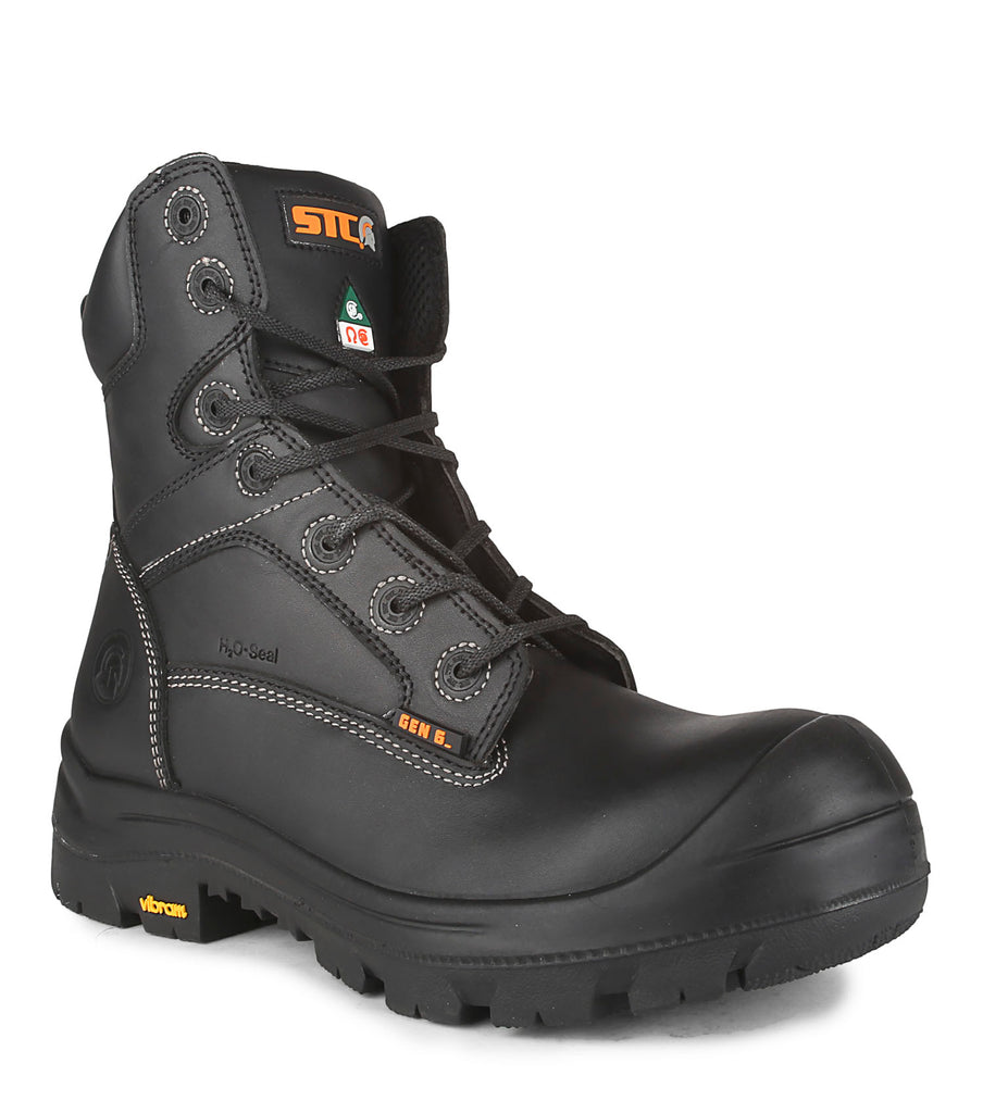 "Morgan, Black | 8"" Work Boots metal free"