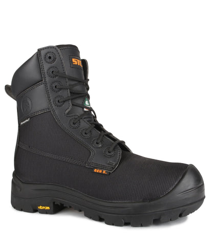 "Rebel, Dark Brown | Waterproof 8"" Work Boots 