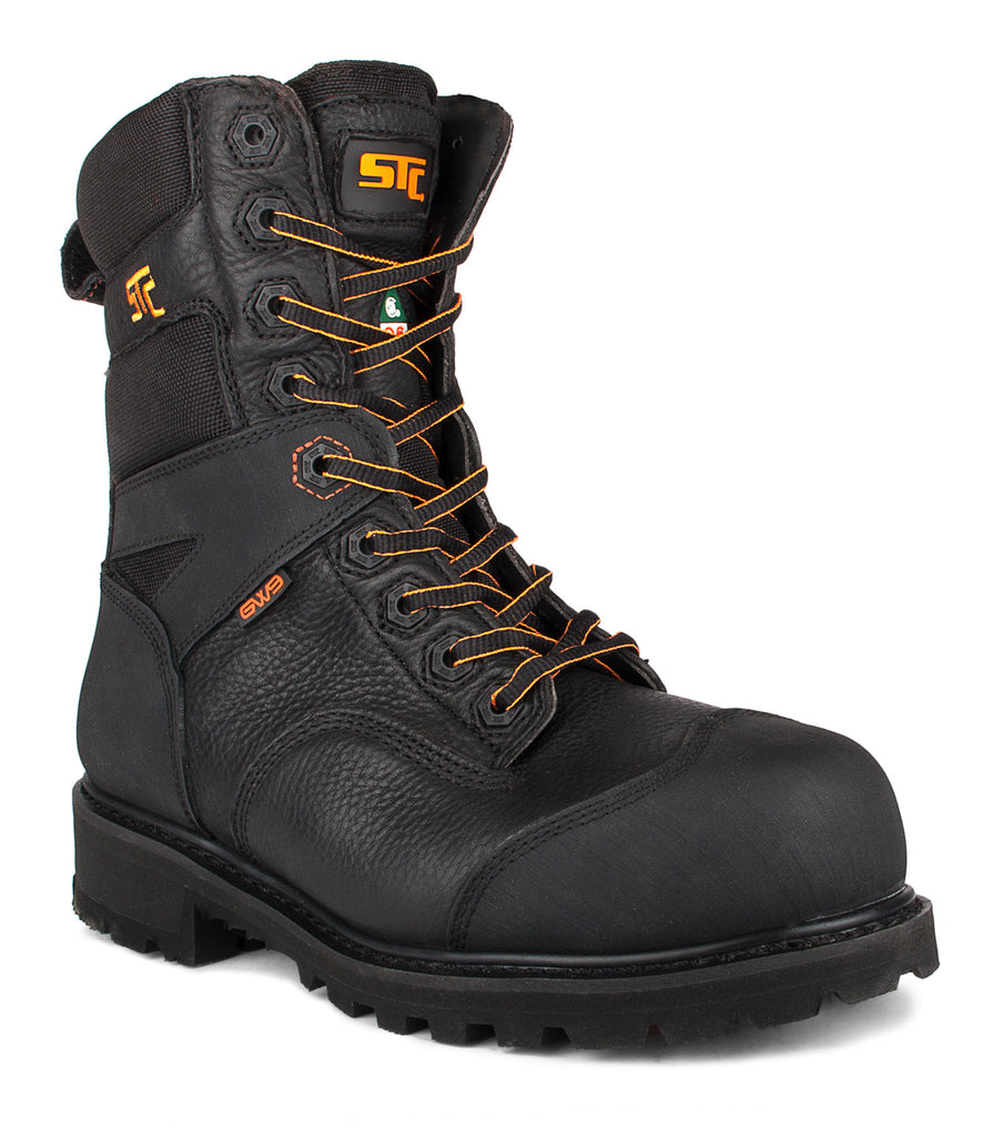 "Barrier, Black | 8"" Work Boots metal free"