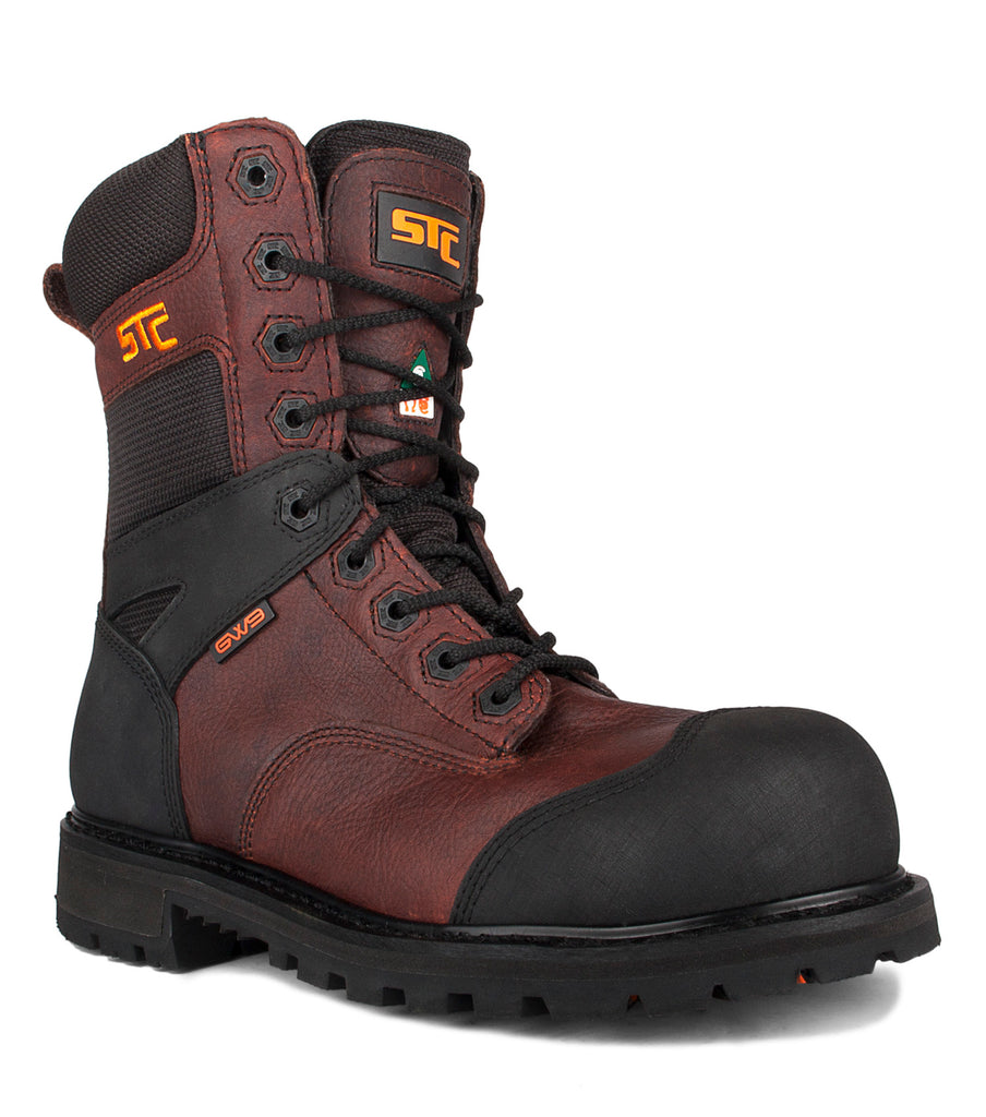 "Creston, Brown | 8"" Work Boots metal free"