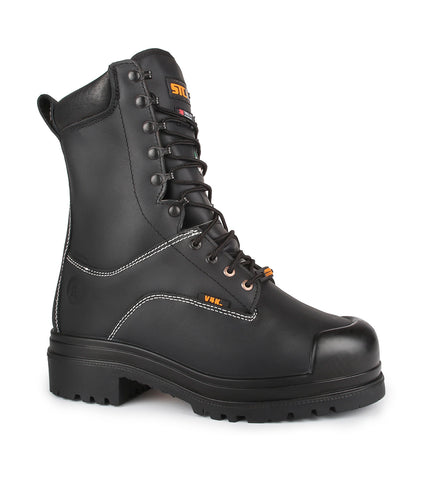 "Alloy, Black | 8"" Work Boots with external metatarsal protection"