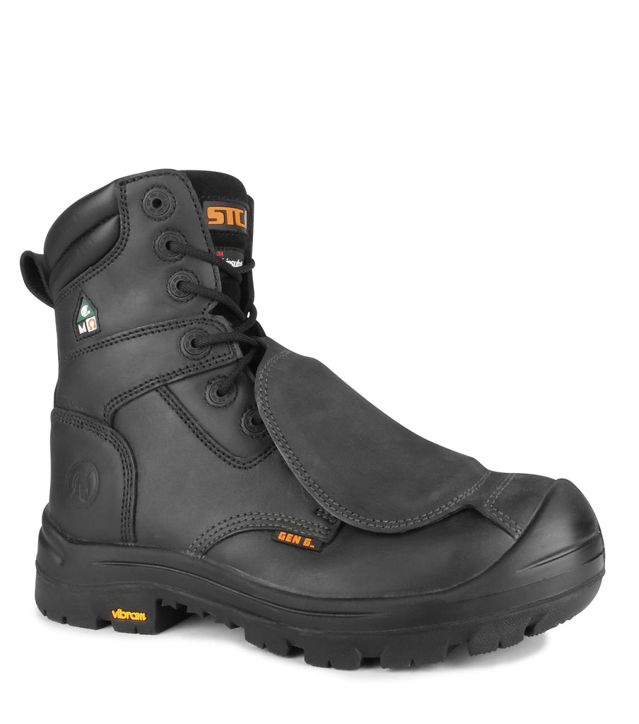 "Alloy, Black | 8"" Work Boots with metatarsal protection"