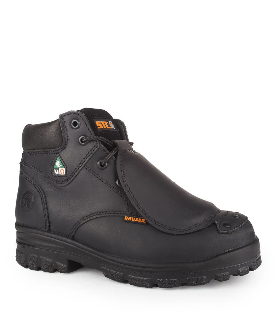 "Press, Black | 6"" Work Boots with Metatarsal Protection"