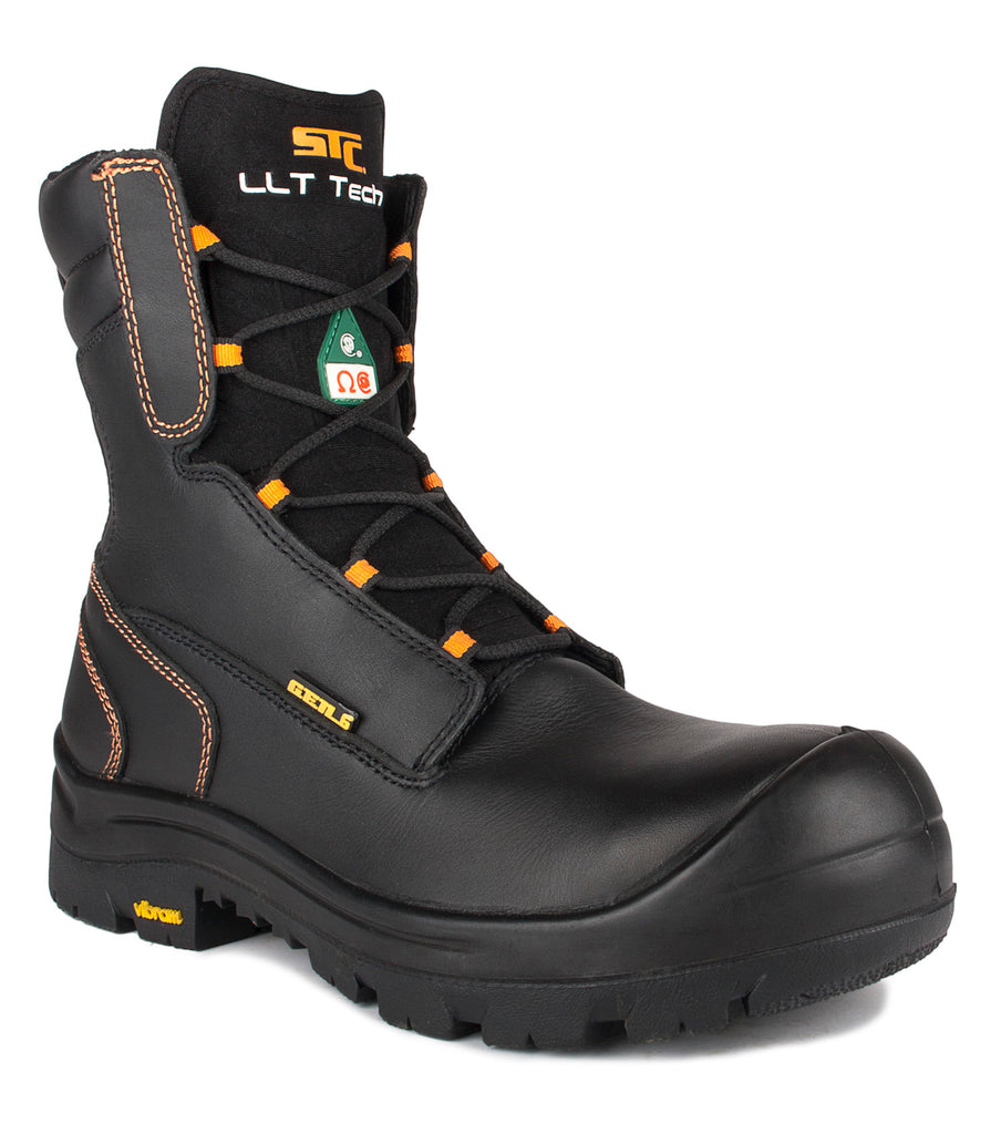 "Locust, Black | 8"" Safety Waterproof Work Boots 