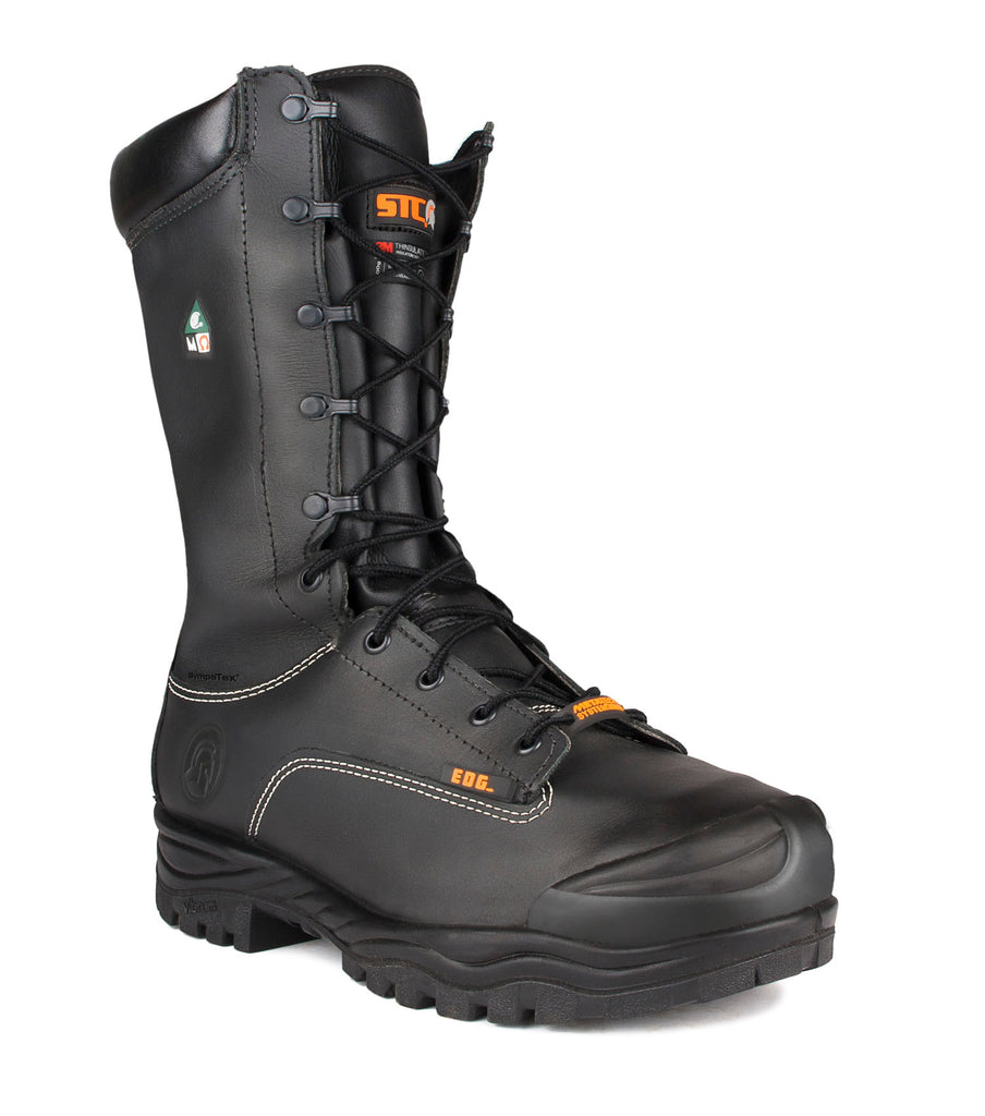 "Hickory, Black | 14"" Work Boots with metatarsal protection 