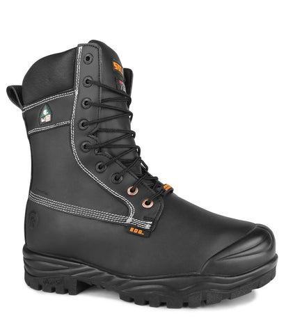"Alloy, Black | 8"" Work Boots with extenal metatarsal protection"