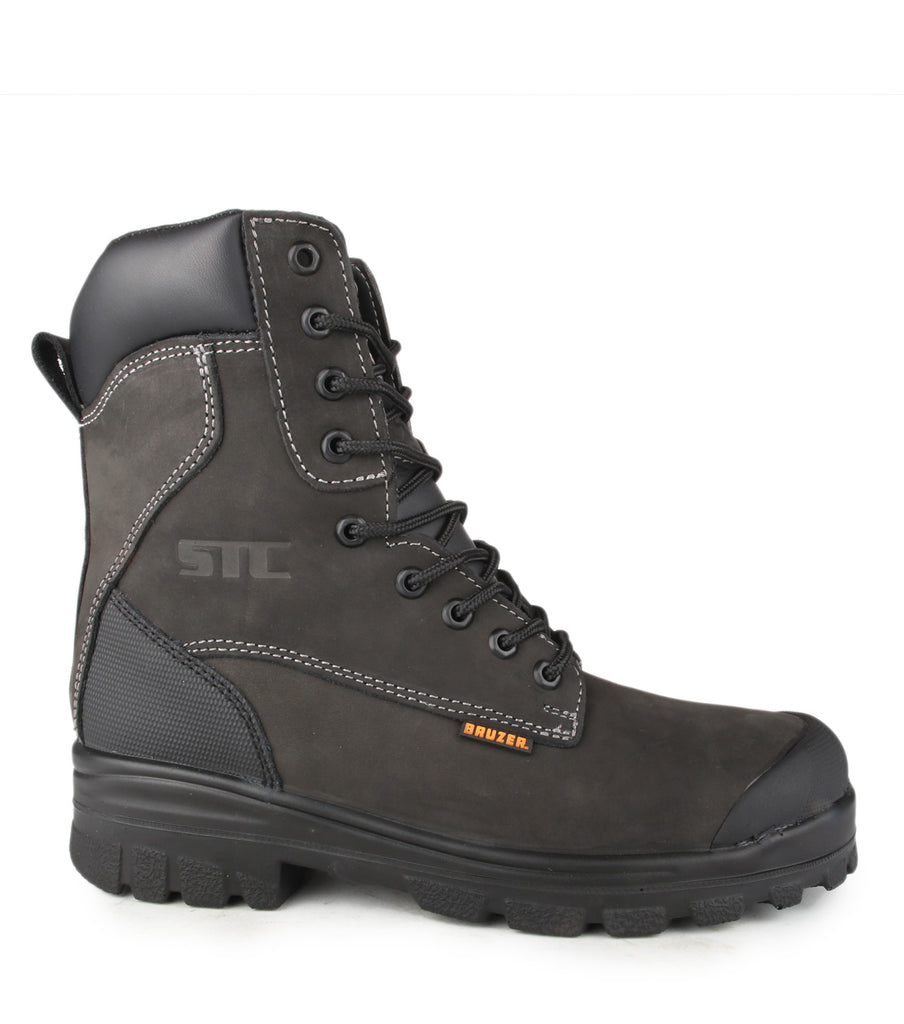"waster, Black | Waterproof nubuck leather 8"" work boots"