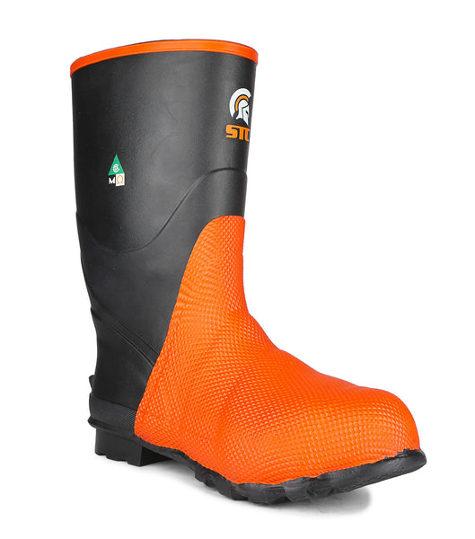 "Geo II, Black | 13.5"" Natural Rubber Safety Boots 