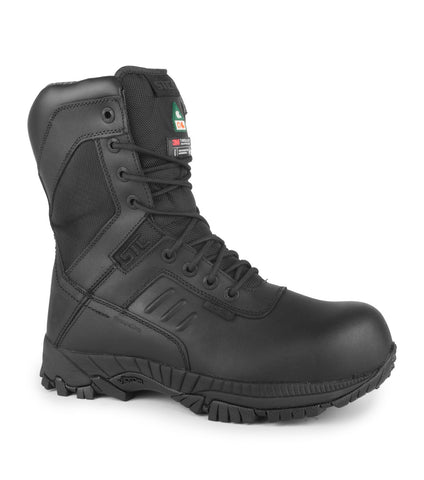 "Rebel, Black | Waterproof & Breathable 8"" Leather Work Boots 
