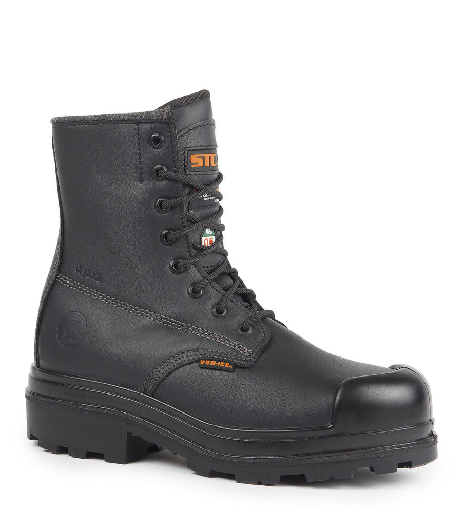 "Dawson-Ice, Black | 8"" Insulated work boots 
